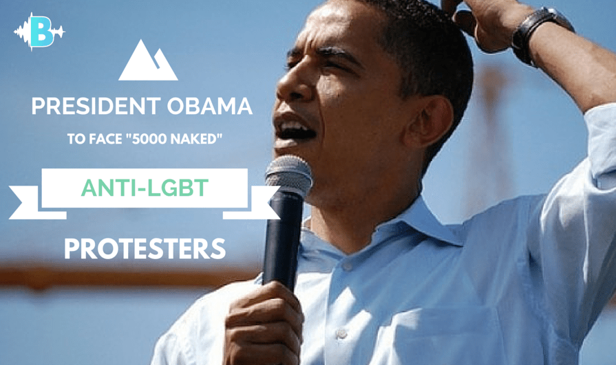 "Obama To Face ""5000"" Naked Anti-LGBT Protesters"